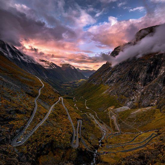 The Trollstigen road in Norway