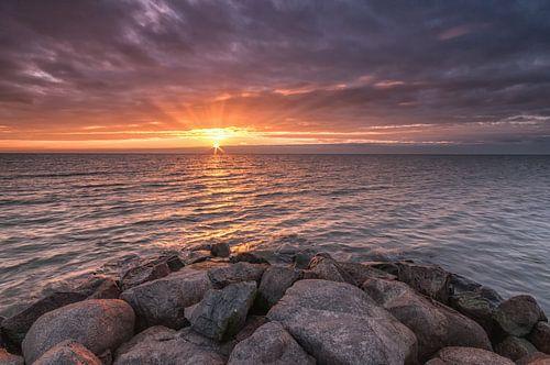 Zonsondergang Stavoren von Menno Bakker