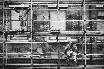 Bauarbeiter in Shanghai 2 von Erik Juffermans