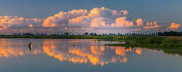Panoramafoto des Naturschutzgebietes 't Roegwold, Groningen von Henk Meijer Photography