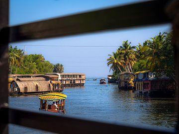 Alleppey Hausboote in Indien von Rik Pijnenburg