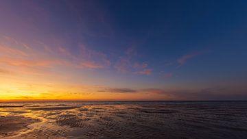 Panorama zonsondergang aan het strand van Fabrizio Micciche