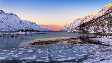 Ersfjord in de Winter, Noorwegen van Adelheid Smitt