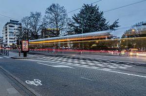 Voorbijrijdende tram van Jeroen van Gent
