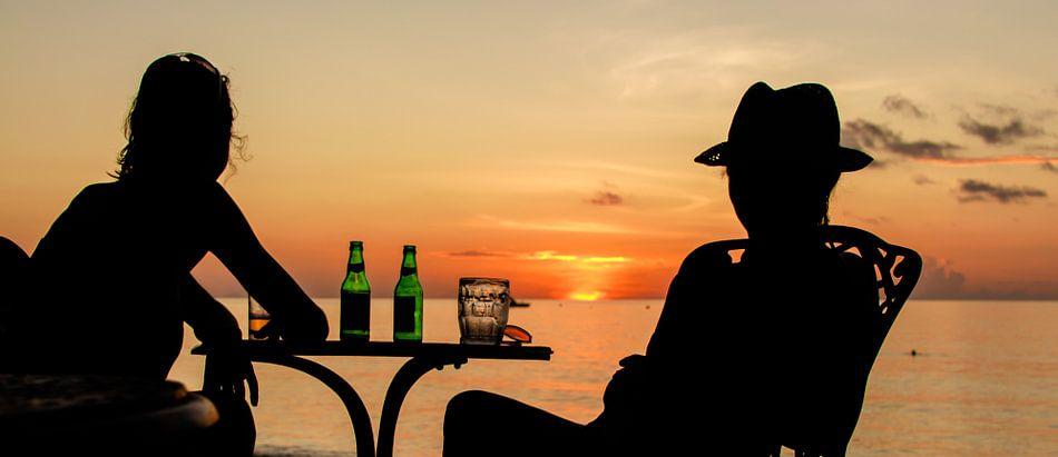 Seychelles Sunset van Alex Hiemstra