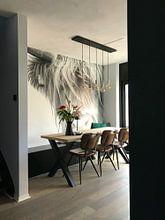 Photo de nos clients: Portret Schotse Hooglander zwart-wit sur Sandra van Kampen