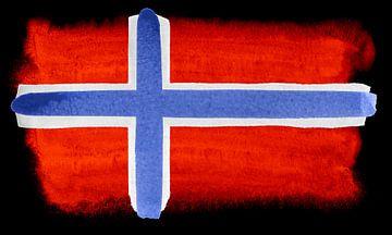 Symbolische nationale vlag van Noorwegen van Achim Prill