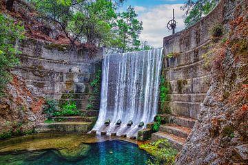 Waterfall Rhodes van Erik de Boer