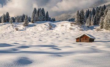L'idylle hivernale en Haute-Bavière sur Achim Thomae