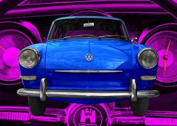VW 1500 Typ 3 in blue & pink von aRi F. Huber