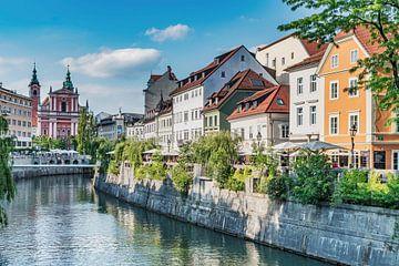 Oude stad van Ljubljana, Slovenië van Gunter Kirsch