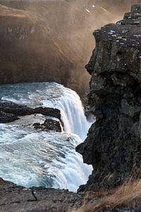 Waterval - Gullfoss van Irene Hoekstra