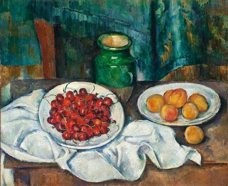 Paul Cézanne. Tafel met fruit van 1000 Schilderijen
