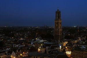 Dom Utrecht bij nacht van
