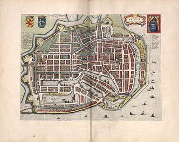 Enkhuizen, Stadtplan Joan Blaeu 1652