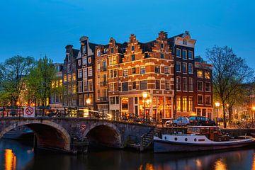 Les plus belles maisons de canal d'Amsterdam sur Peter Bartelings Photography