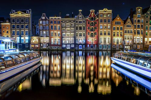 Amsterdamse Huizen aan het Damrak