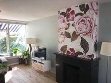 Klantfoto: Pastel Hygge Vintage Peonies Garden van Uta Naumann, als naadloos behang