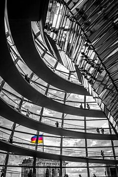 Reichstag Berlin 1 van Martijn .