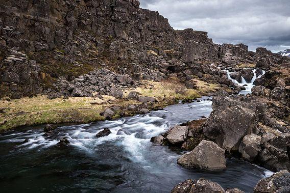 Rivier bij Öxarárfoss