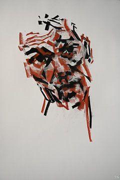 Kleur rijk gezicht kunst van KB Prints