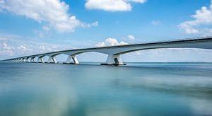 Pont de la digue sur Ronnie Westfoto