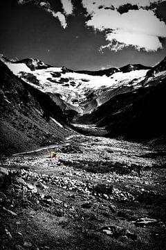 Travailler à la montagne sur