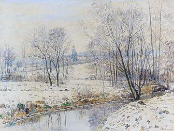 Flusslandschaft in Hessen, PAUL BAUM, Ca. 1880 von Atelier Liesjes