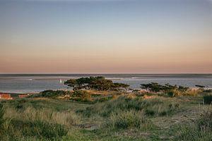 Vue de Terschelling sur un voilier au coucher du soleil sur Jolanda Kleij