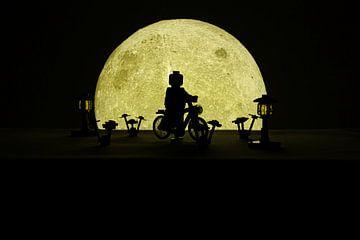 Radfahren im Mondschein von MK Audio Video Fotografie