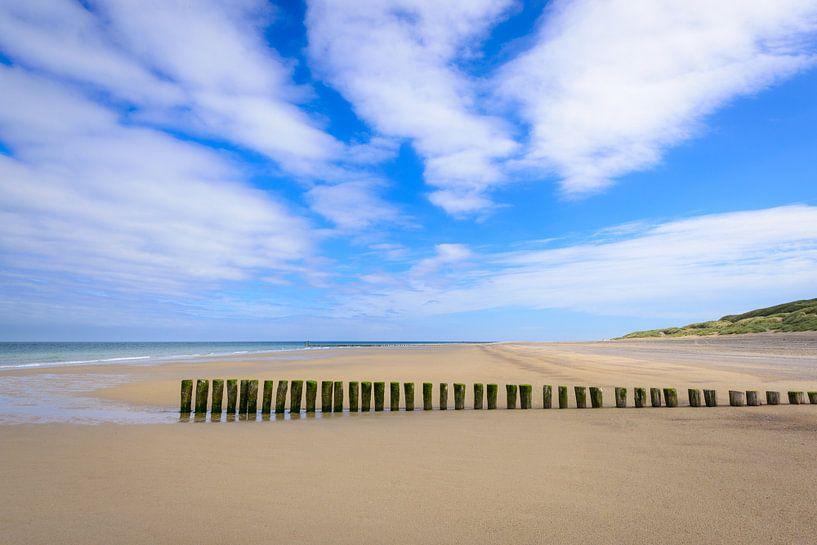 Het lege strand van Johan Vanbockryck