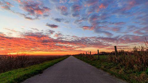 Weerribben NP: Weg naar de zonsopkomst