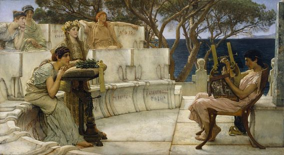 Lawrence Alma Tadema. Sappho and Alcaeus van 1000 Schilderijen