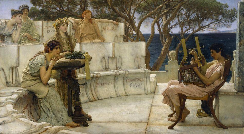Lawrence Alma Tadema. Sappho and Alcaeus