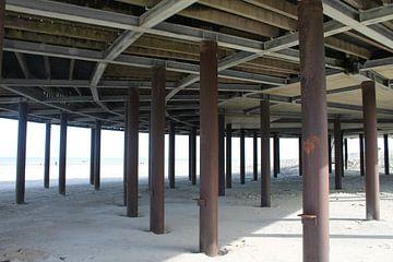 Symmetrie op het strand van MFJ de Bruin