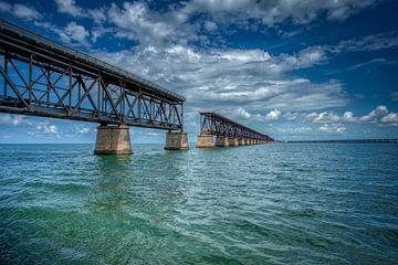 Key West Old Railroad Bridge (Oude spoorbrug) van Marcel Wagenaar