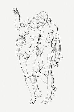 Adam und Eva, Cornelis Ploos van Amstel (ca. 1736-1848) von Atelier Liesjes