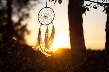 Traumfänger bei Sonnenuntergang von Marjolijn Barten