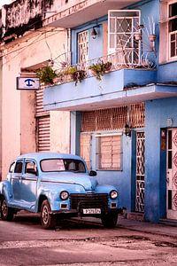 Blauwe Cubaanse Sfeer van