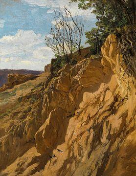 Carlos de Haes-Niederhanglandschaft am Fluss, Antike Landschaft