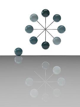 Driedimensionaal zwevend wiel van shoott photography