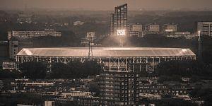 Feyenoord stadion 32 (Sepia) van