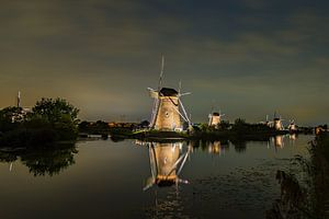 Verlichte molens Kinderdijk - 2 van