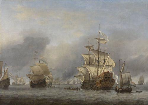 VOC Zeeslag schilderij: De verovering van de Royal Prince van Schilderijen Nu