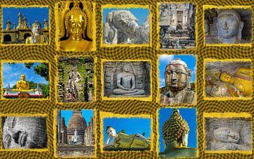 Collage van boeddha beelden van Rietje Bulthuis