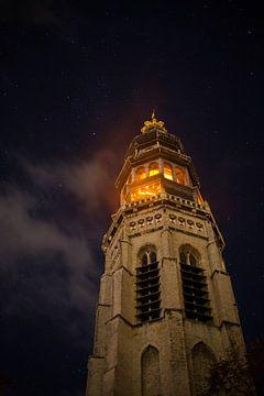 Lange Jan tijdens de Nacht van de Nacht von Marcel Klootwijk