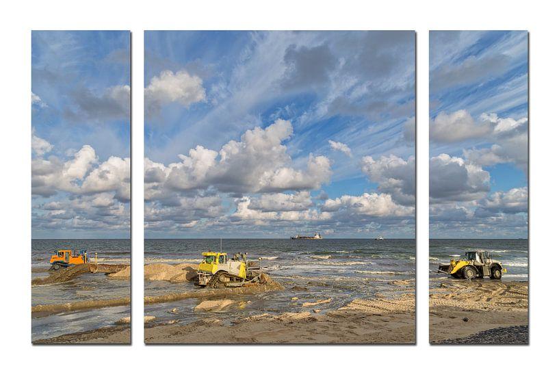 Drieluik van een kustversterkingsproject in Noord-Holland  van Miranda van Hulst
