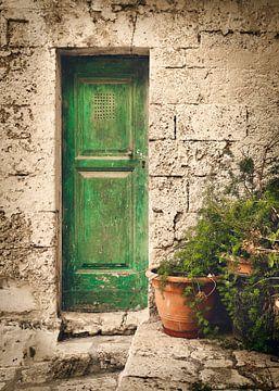 Groen deurtje in Italie van Sran Vld Fotografie