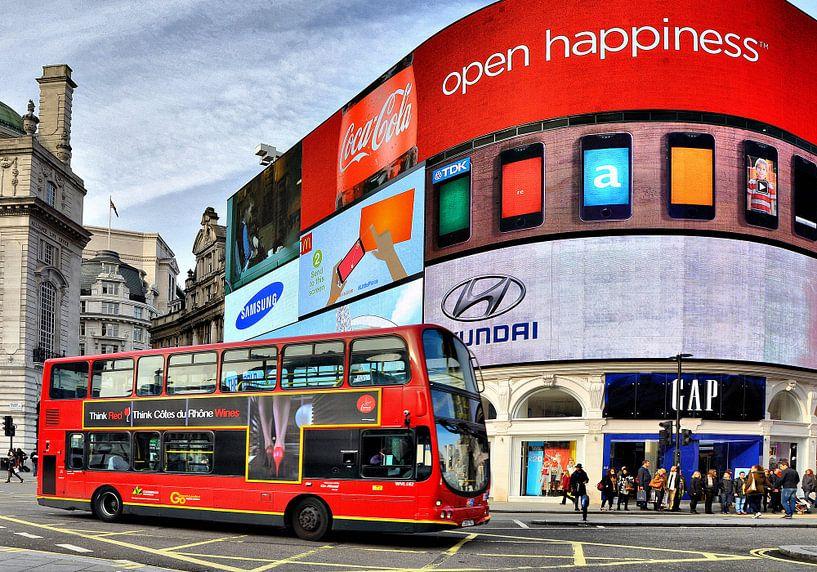 Londen, Piccadilly Circus van Tineke Visscher