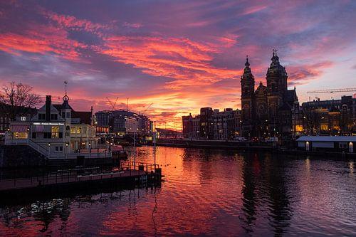 November sunrise in Amsterdam No. 2 von